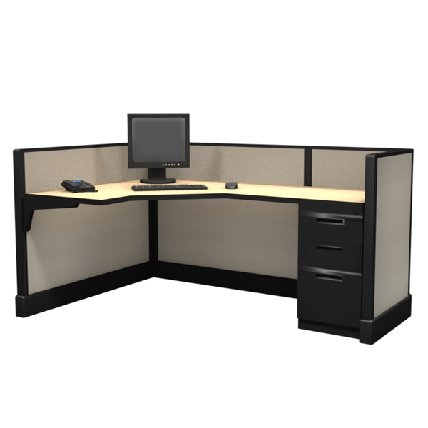 "39"" Tall 6'x4' modular furniture system"