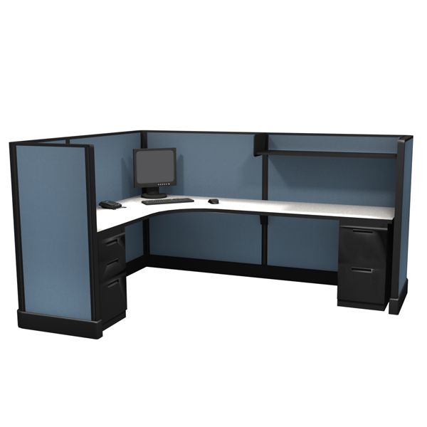 "53"" Tall 6'x8' modular furniture systems"
