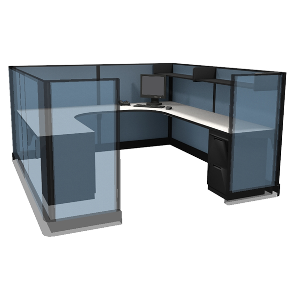 "53"" Tall 8'x8' modular furniture systems"
