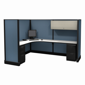 """67"""" tall 6'x8' office cubicle"""