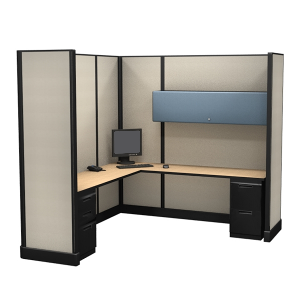 85″ Tall 7'x7′ office cubicles