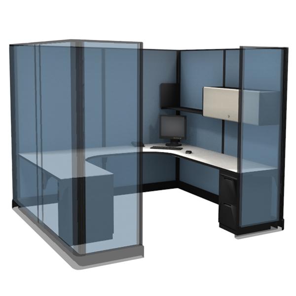 "85"" Tall 8'x8' modular furniture systems"