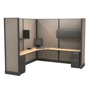 85″ Tall 8'x8'open plan systems