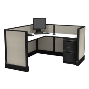 """39"""" Tall 5' x 5' office cubicle"""