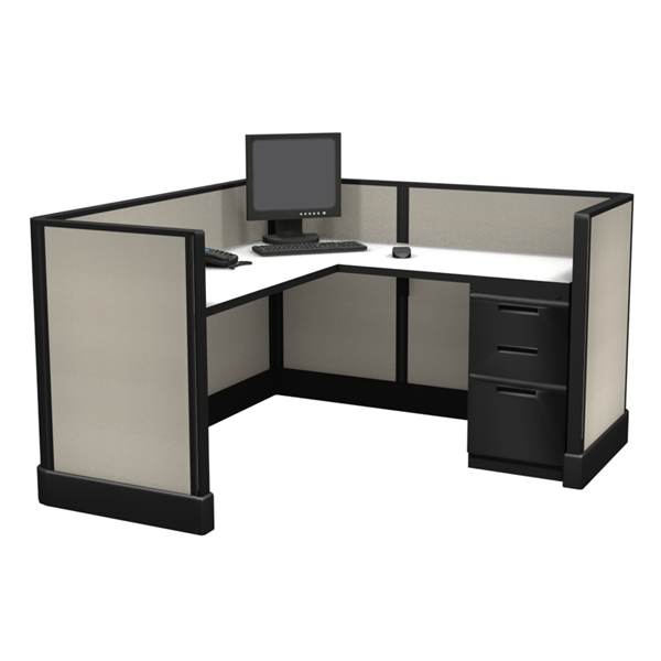 "39"" Tall 5' x 5' office cubicle"