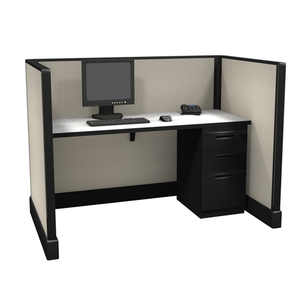 "47"" Tall 5'x3' open plan systems"