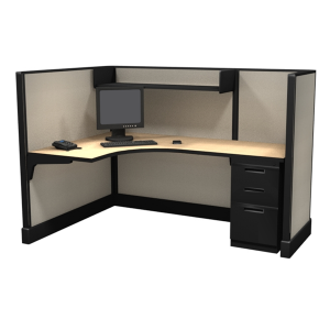 53″ Tall 6'x4′ open plan systems