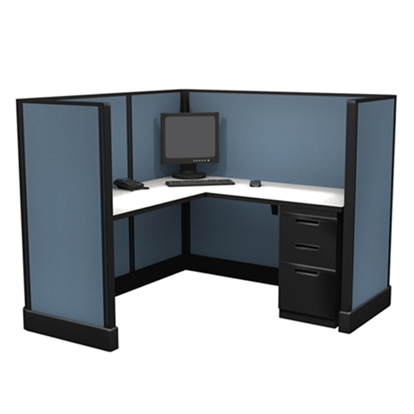 "53"" 5'x5' office cubicles"