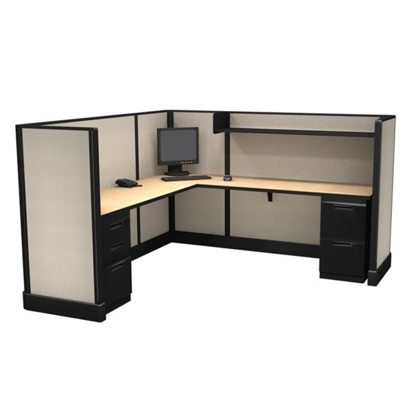 "53"" Tall 7'x7' modular furniture system"