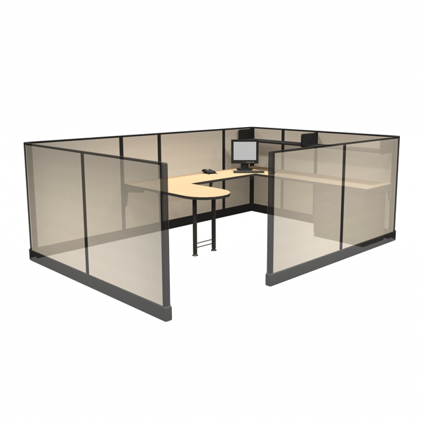 "53"" Tall 8'x12' office cubicles"
