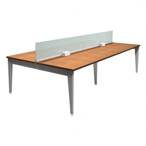 Xpand Benching Stations 30x60 with Glass Divider