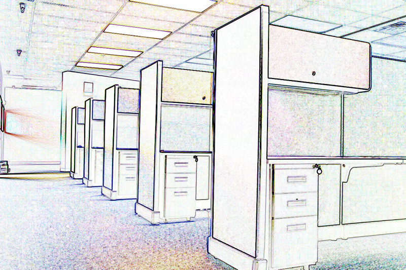 Office Cubicle Art – Photoshop fun