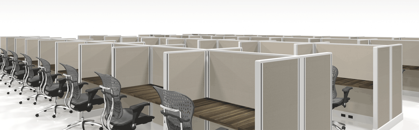 cube solutions call center cubicles in pods of 18