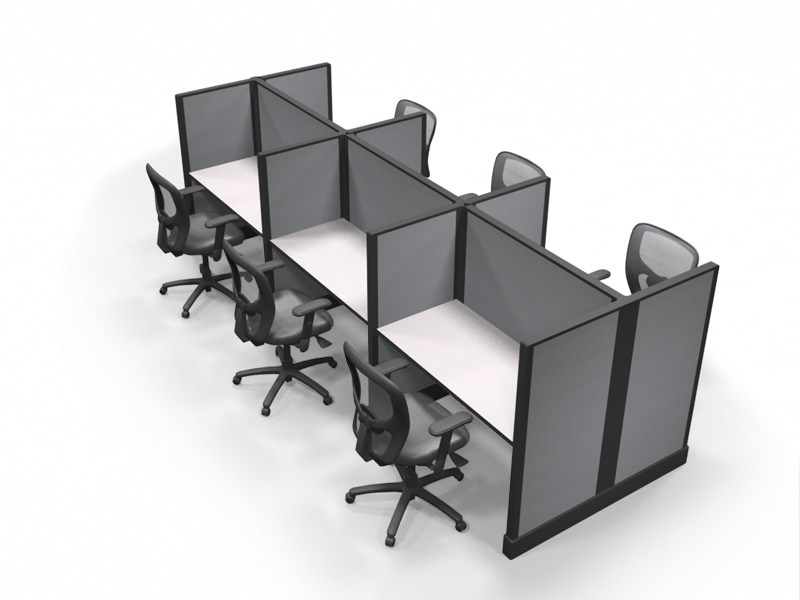 """4'x 2' call center cubicle - 53"""" tall"""