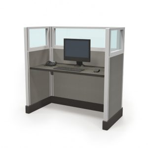 """1/4 glass 53"""" call center cubicles"""