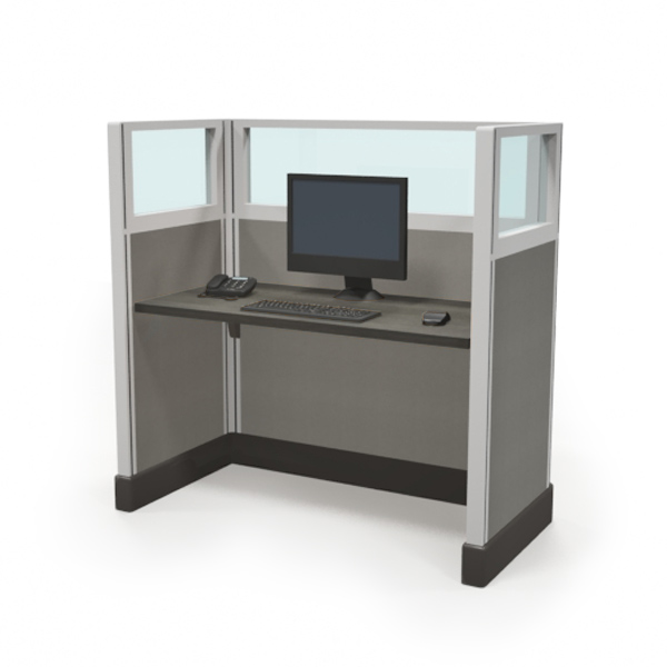 "1/4 glass 53"" call center cubicles"