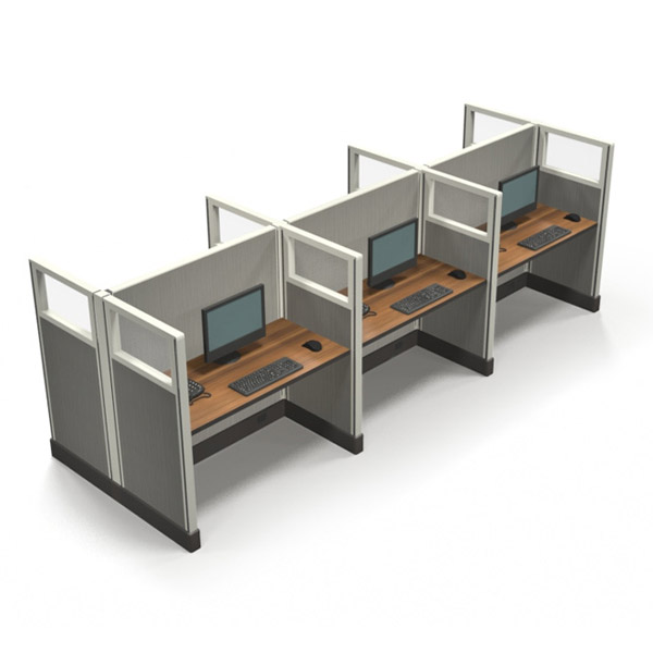 "Value 53"" 4'x2' Quarter-Glass Special Offer Office Cubicle"