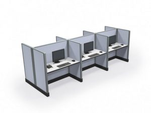"""Max-Value 53"""" 2' x 4' Call Center Cubicles - Pod of 6"""