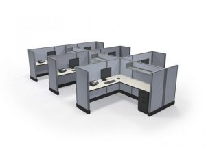 """53"""" Max-Value 6'x'6' Office Cubicles Cluster of 6"""