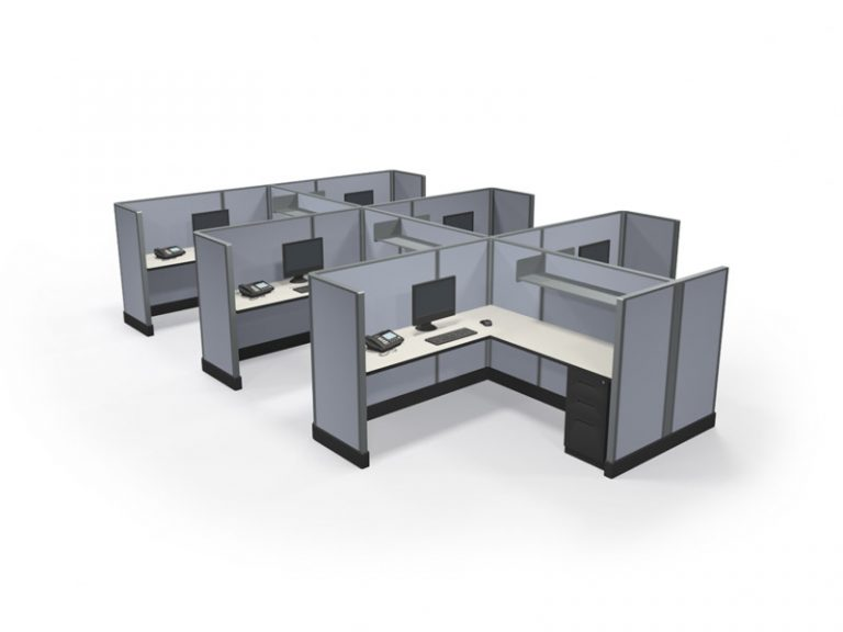 "53"" Max-Value 6'x'6' Office Cubicles Cluster of 6"