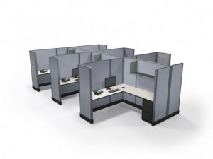 """67"""" Max-Value 6'x'6' Office Cubicles Cluster of 6"""