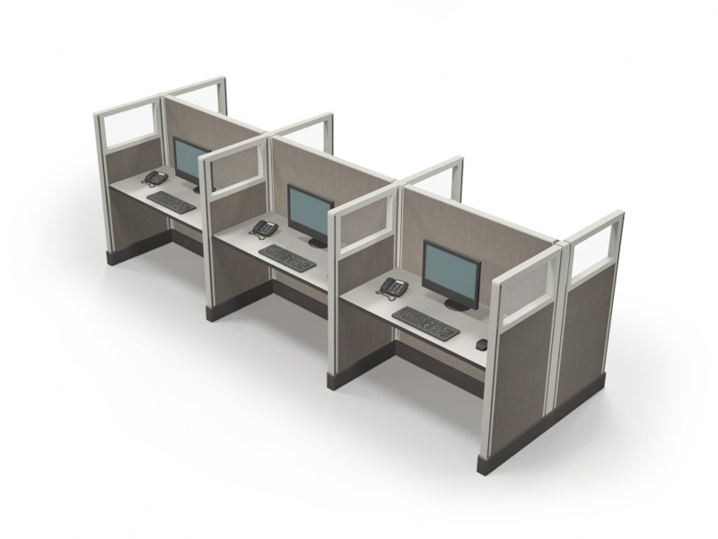 Telemarketing cubicles in New York 53x2x4