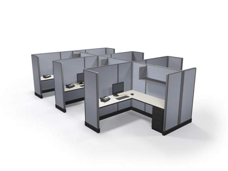 Office Cubicles Raleigh 67x6x6 pod of 6