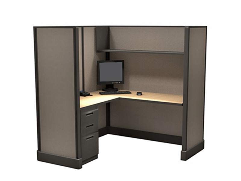 Tall Call center cubicles 67x2x4 in a pod of 6 in Las Vegas