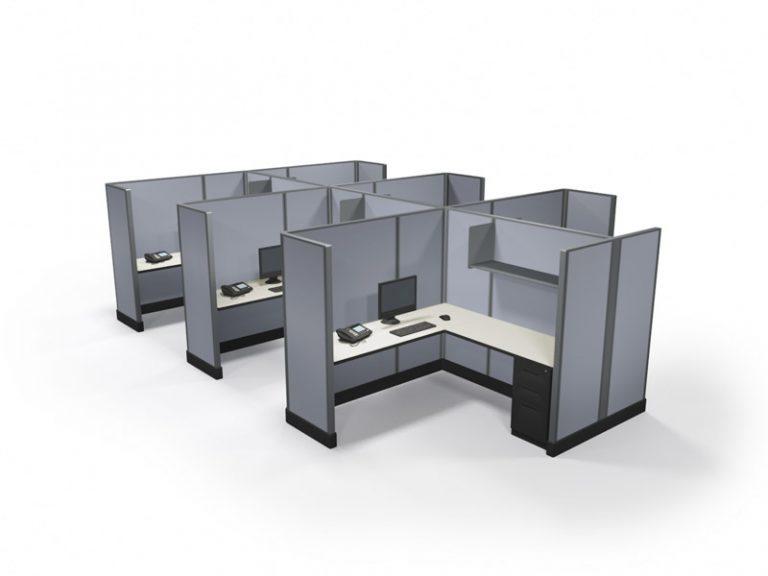 Office Cubicles Virginia Beach 67x6x6 pod of 6