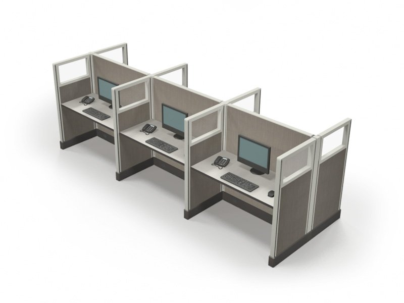 Telemarketing cubicles in Richmond 53x2x4