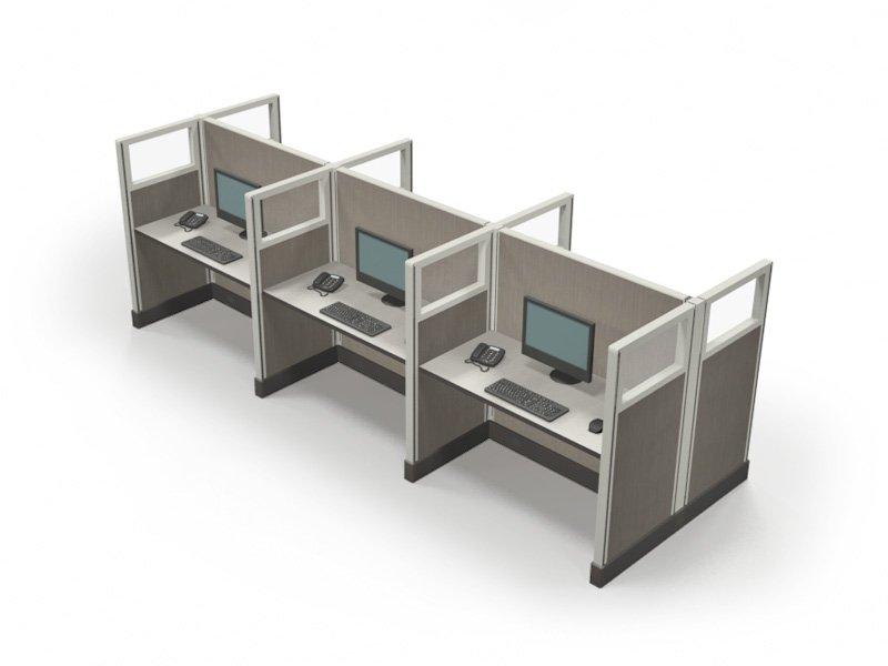 Telemarketing cubicles in San Antonio 53x2x4